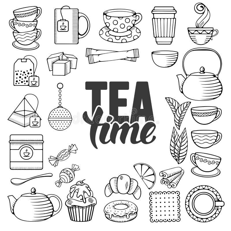 Graphisme de thé illustration libre de droits