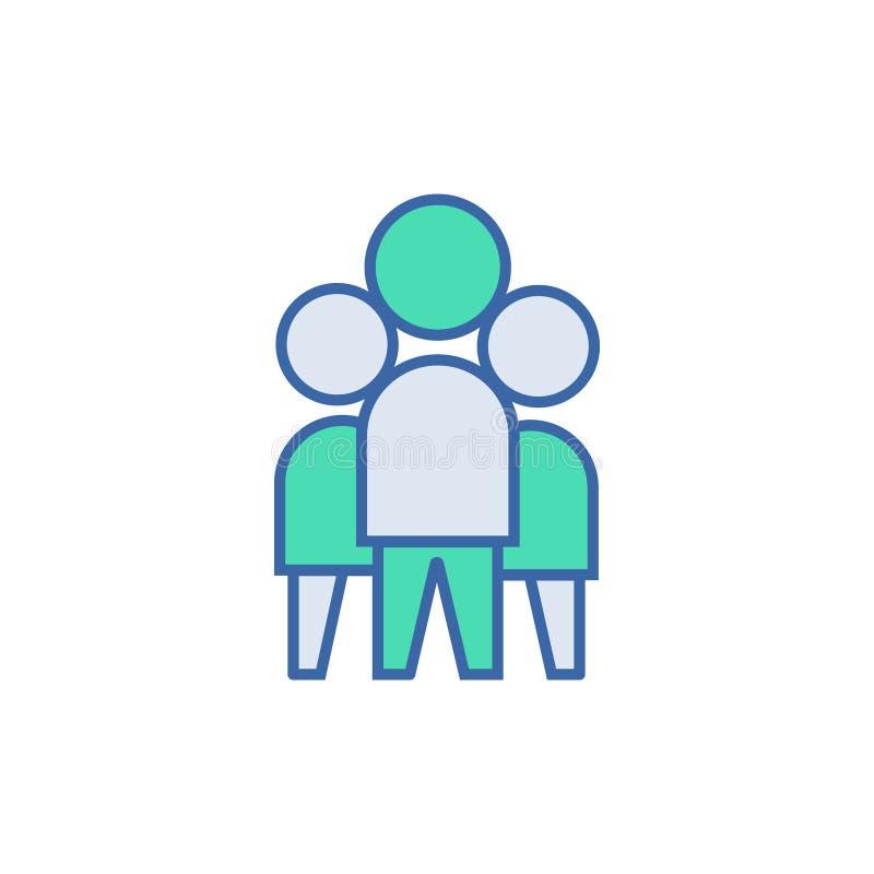 Graphisme de travail d'?quipe symbole de plan et de diagramme de vecteur icône plate de Team Work illustration stock