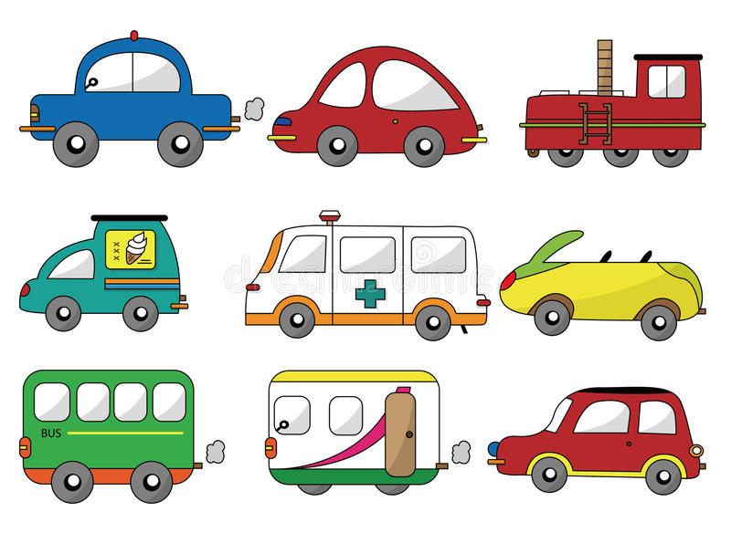 Graphisme de véhicule de dessin animé illustration libre de droits