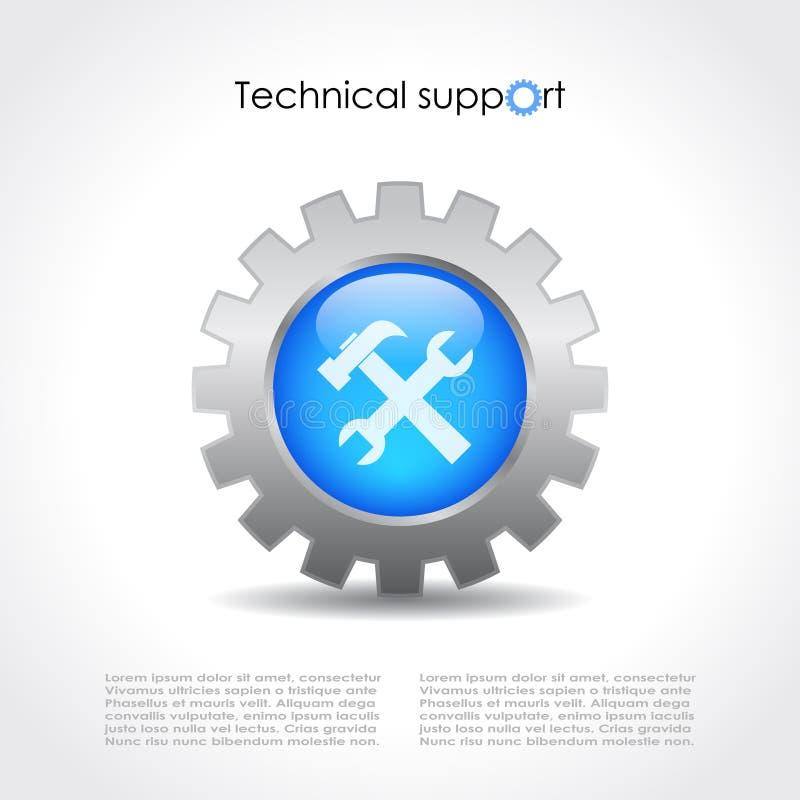 Graphisme de vecteur de support technique illustration stock