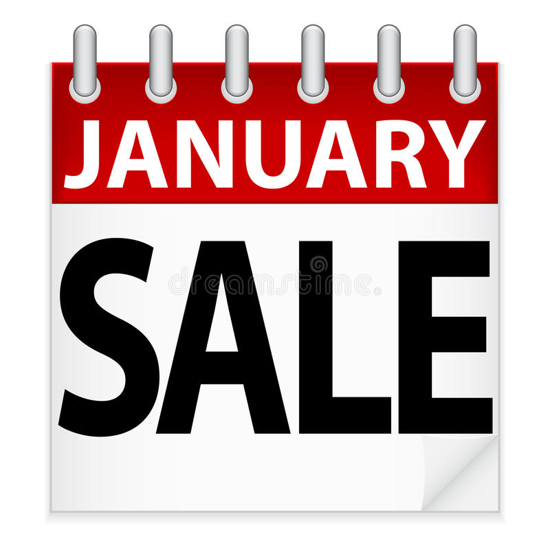 Graphisme de vente de janvier