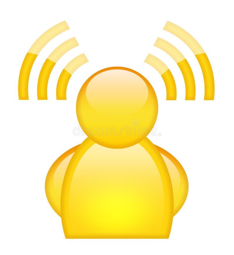 Graphisme de Wi-Fi illustration stock