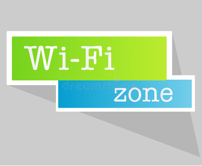 Graphisme de Wifi illustration stock