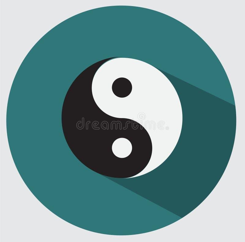 Graphisme de Ying yang illustration de vecteur