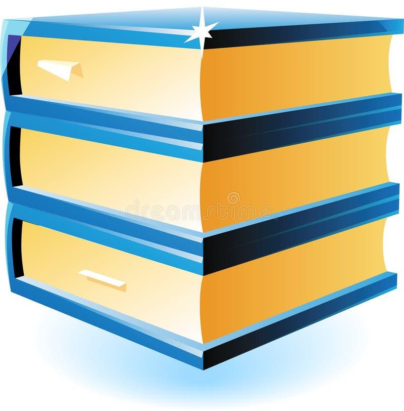 Graphisme des livres bleus illustration de vecteur