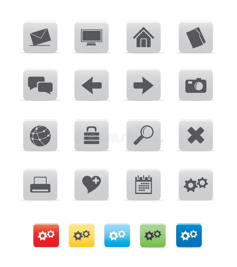 graphisme du cube gray01 illustration stock