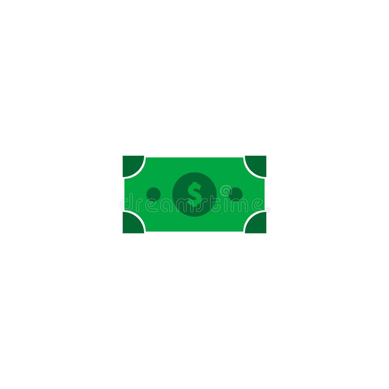 Graphisme du dollar finances de concept symbole plat de Web de vecteur images stock