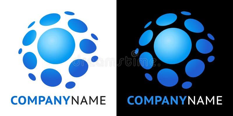 Graphisme et conception en plastique de logo illustration libre de droits