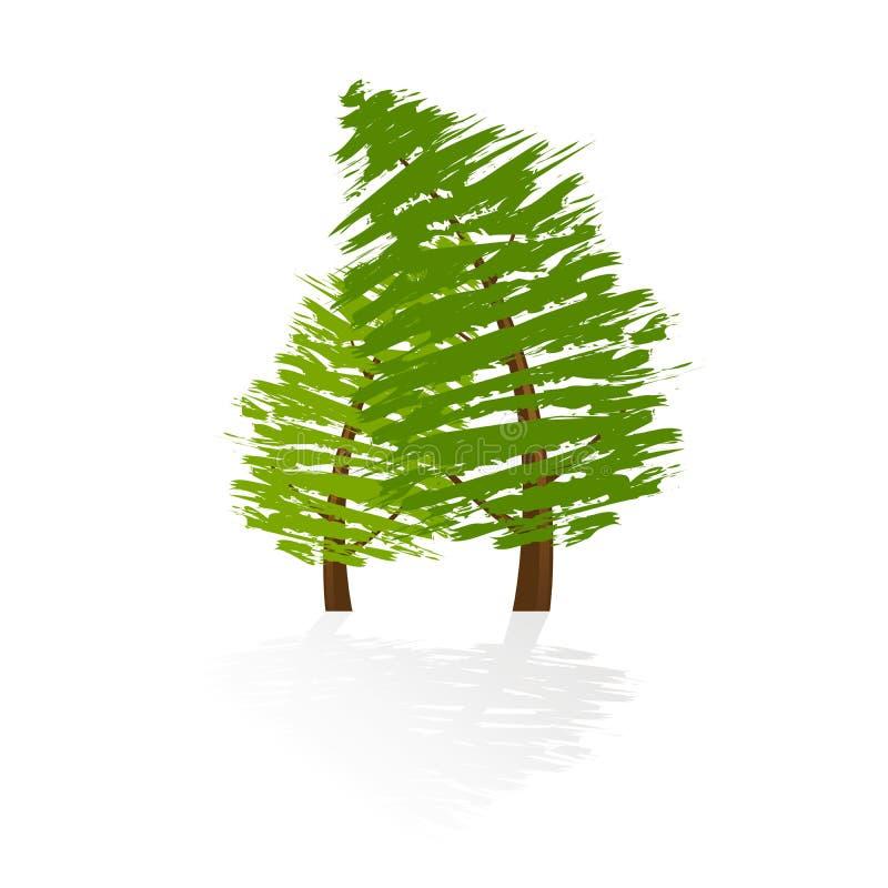 Graphisme grunge d'arbre illustration stock
