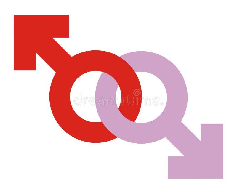 Graphisme homosexuel illustration stock