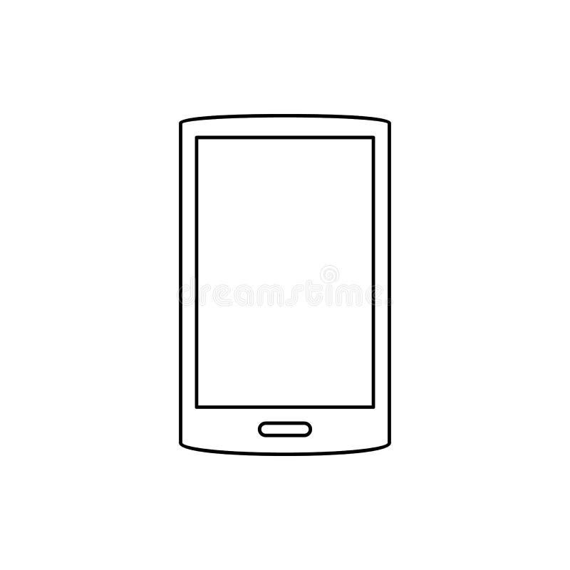 Graphisme intelligent de téléphone Élément de Web pour le concept et l'icône mobiles d'applis de Web Ligne mince icône pour la co illustration de vecteur