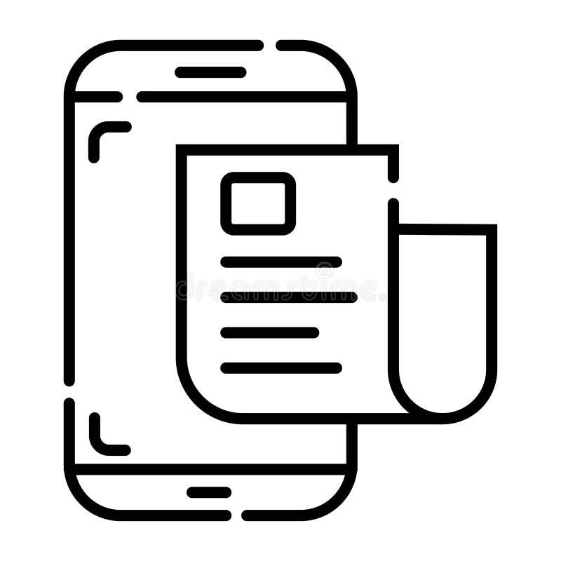 Graphisme intelligent de téléphone illustration de vecteur