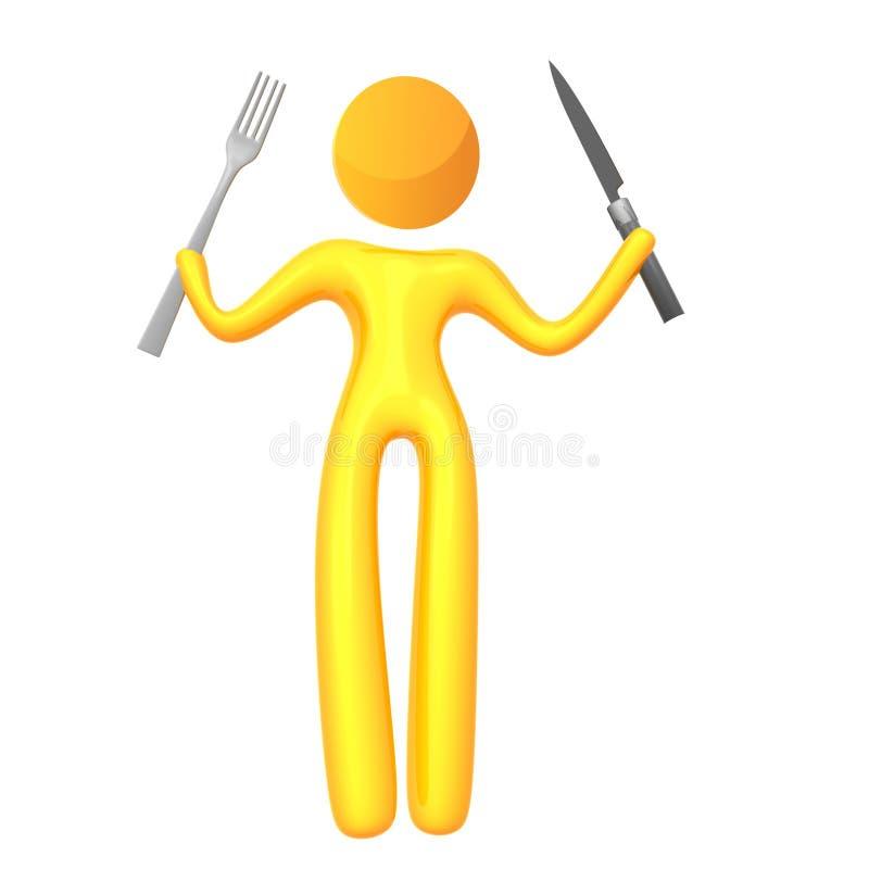 Graphisme jaune élastique de humanoid tout préparé illustration de vecteur