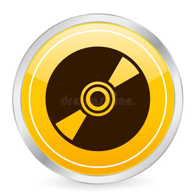 Graphisme jaune CD de cercle illustration de vecteur
