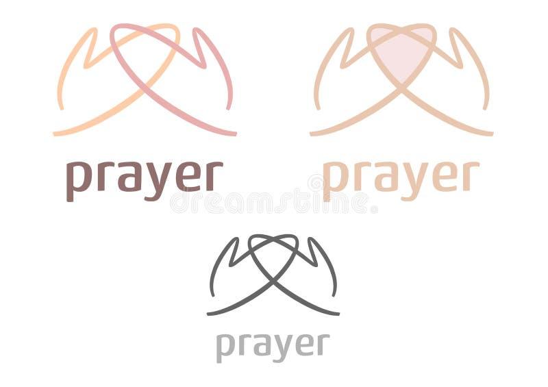 Graphisme/logo simples de prière illustration stock