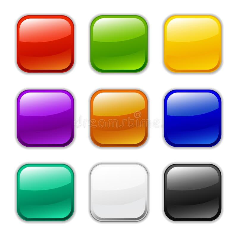 Graphisme lustré de bouton de vecteur, échantillons illustration de vecteur