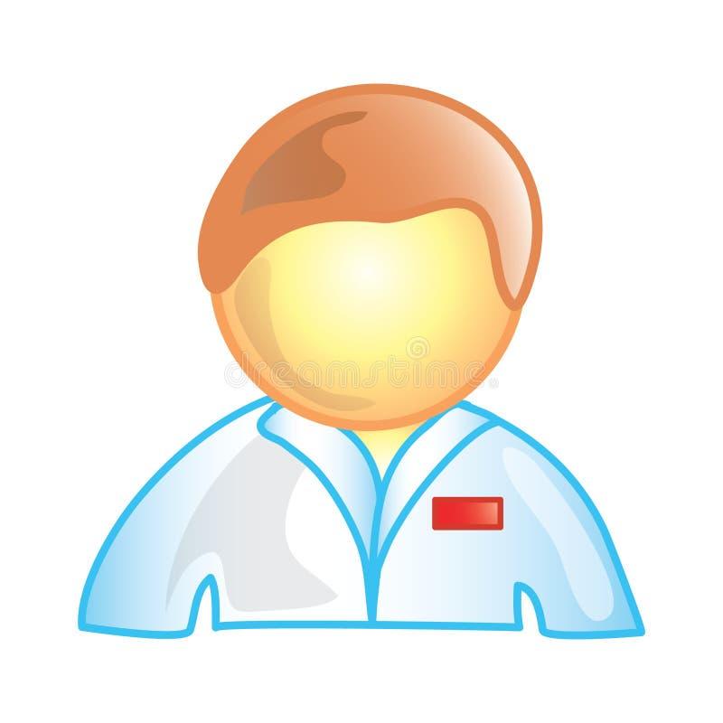 Graphisme mâle d'infirmière illustration de vecteur