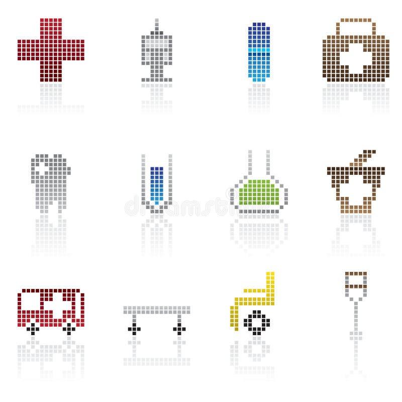 Graphisme médical de Pixel illustration libre de droits