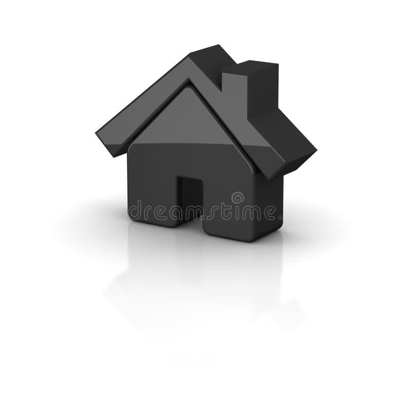 Graphisme noir brillant de maison illustration libre de droits