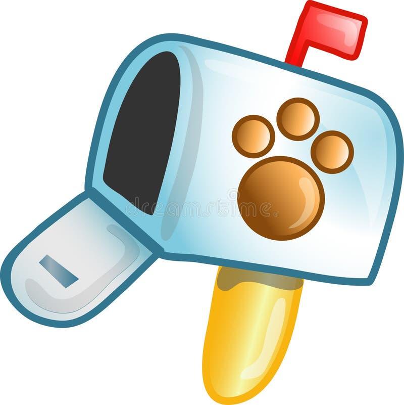 Graphisme ou symbole de boîte aux lettres de vétérinaire illustration stock