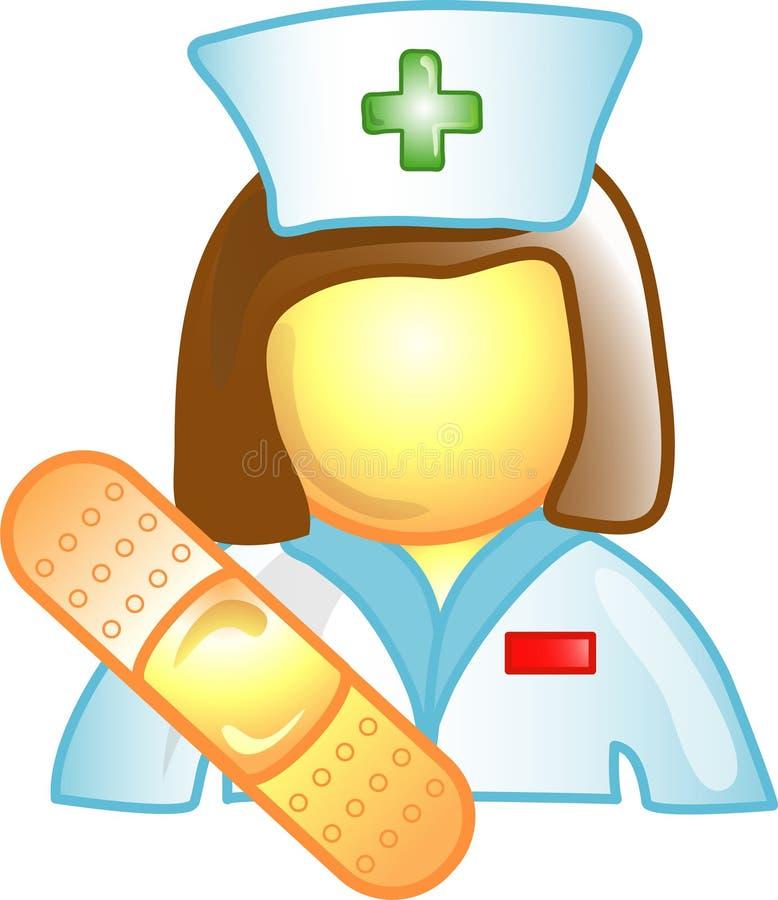 Graphisme ou symbole de carrière d'infirmière illustration stock