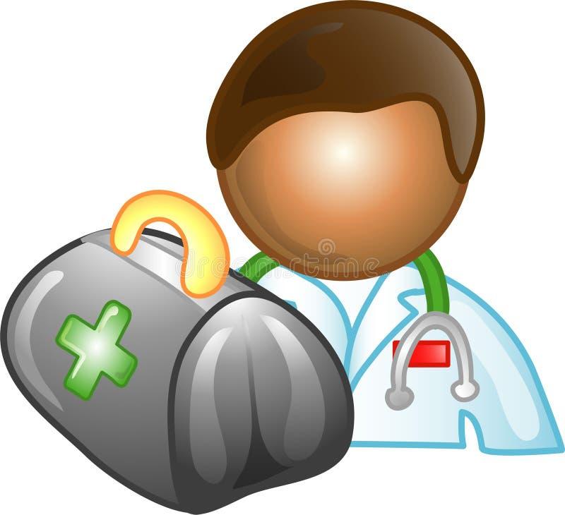 Graphisme ou symbole de carrière de docteur illustration stock