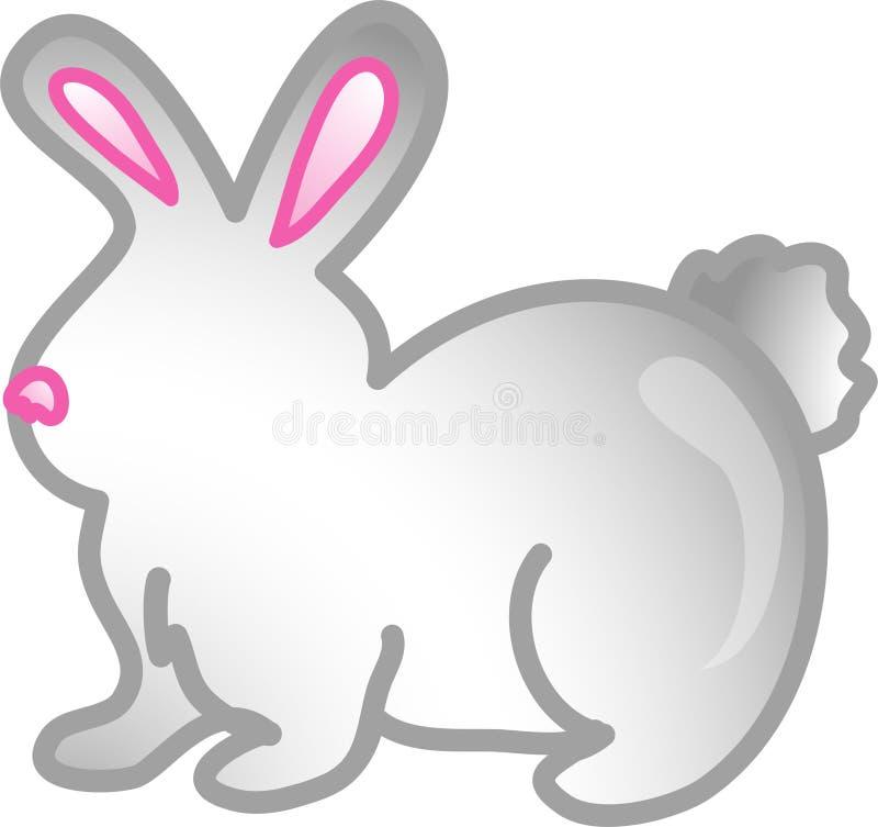 Graphisme ou symbole de lapin d'animal familier illustration libre de droits