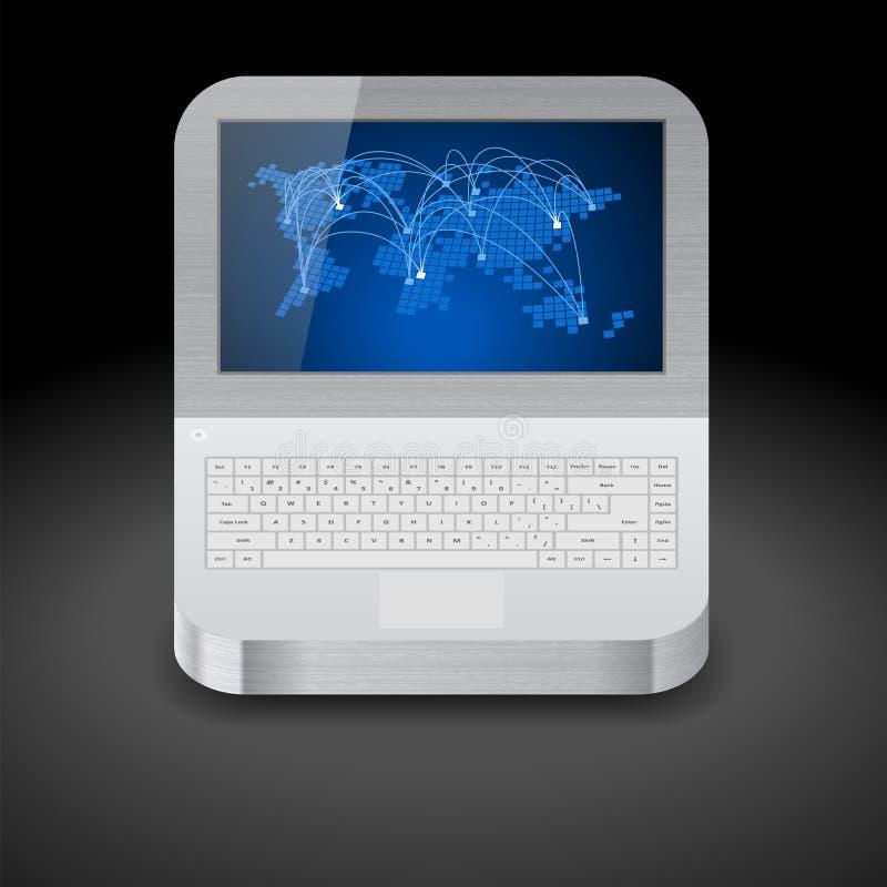 Graphisme pour l'ordinateur portatif illustration de vecteur