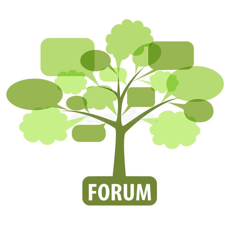 Graphisme pour le forum illustration de vecteur