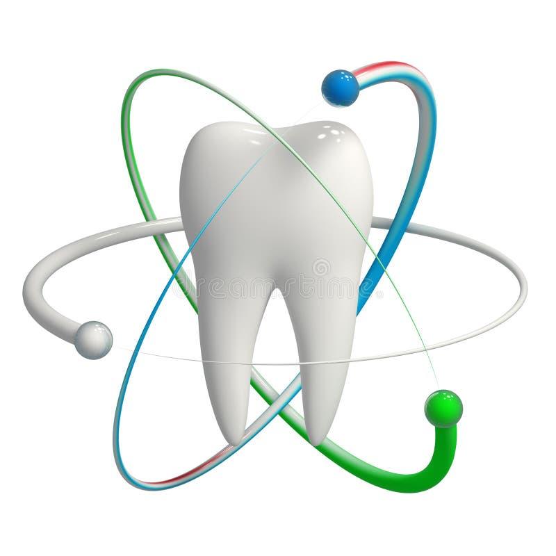 Graphisme protégé de la dent 3d d'isolement illustration libre de droits