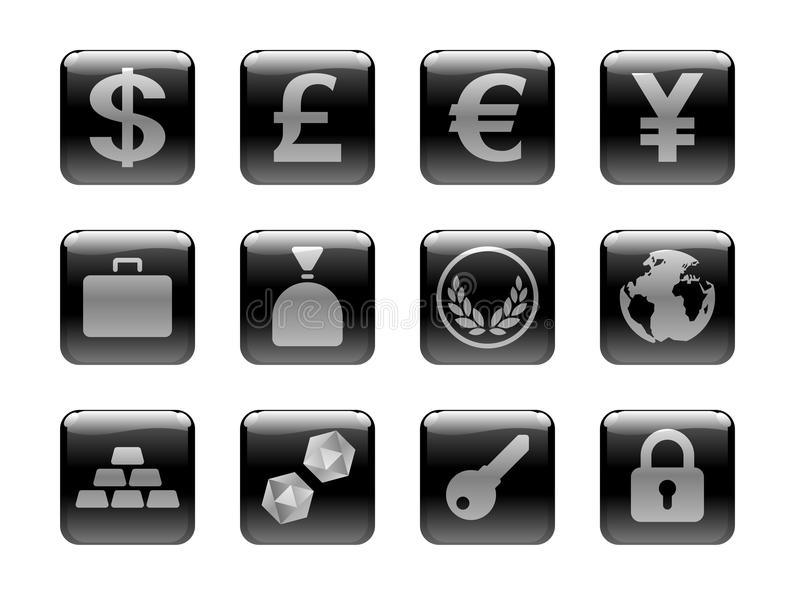 Graphisme réglé sur le thème d'argent illustration stock