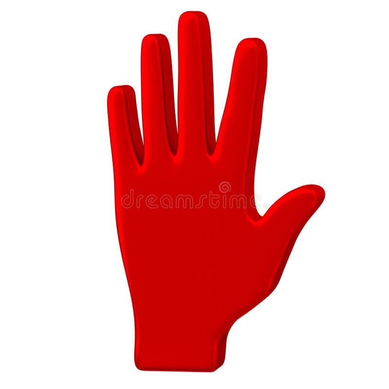 Graphisme rouge 3d de main illustration de vecteur