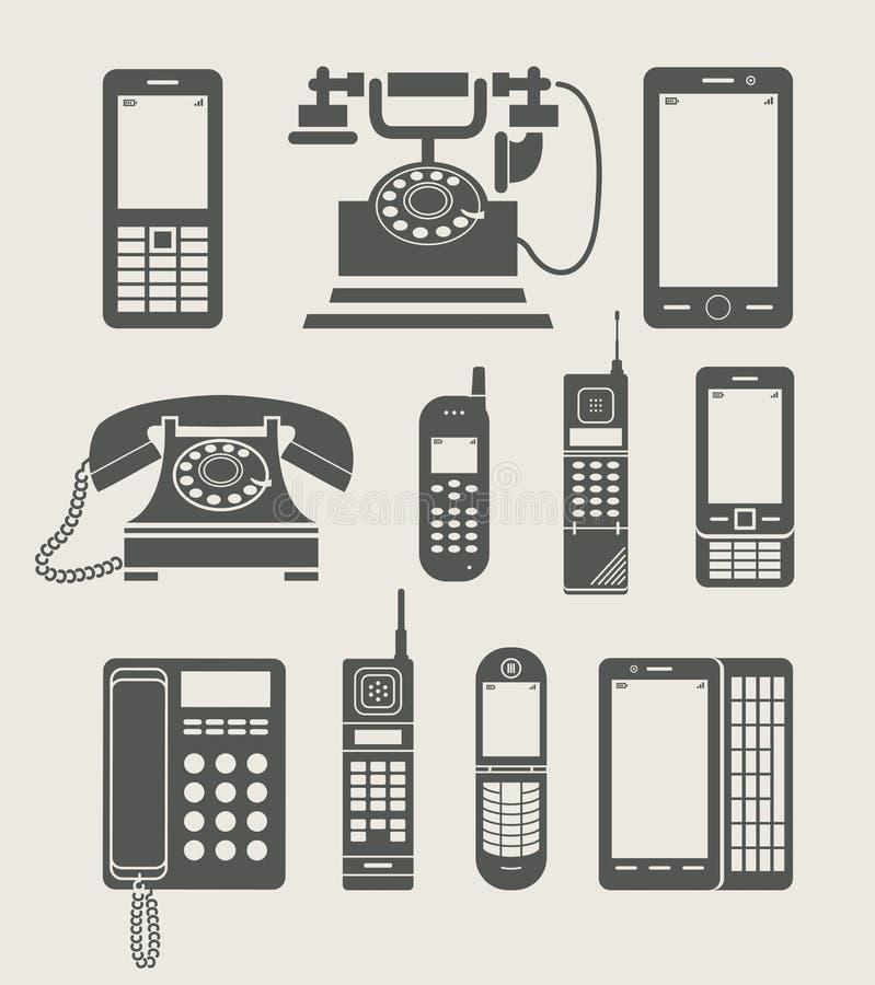 Graphisme simple de positionnement de téléphone illustration stock