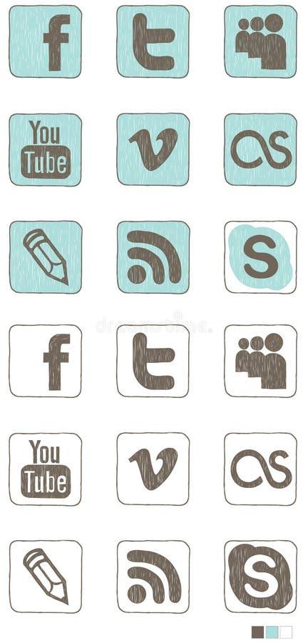 Graphisme social de medias illustration libre de droits