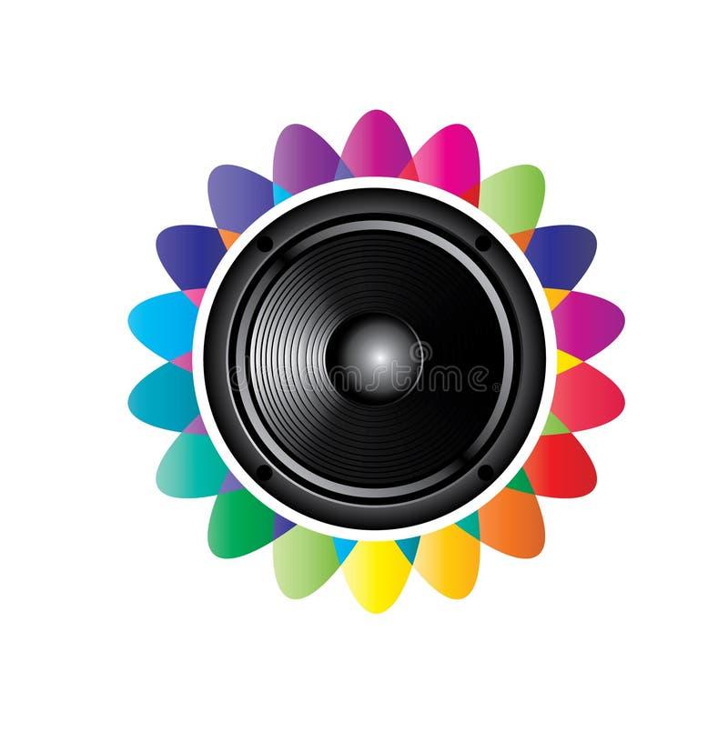 Graphisme sonore de haut-parleur illustration stock