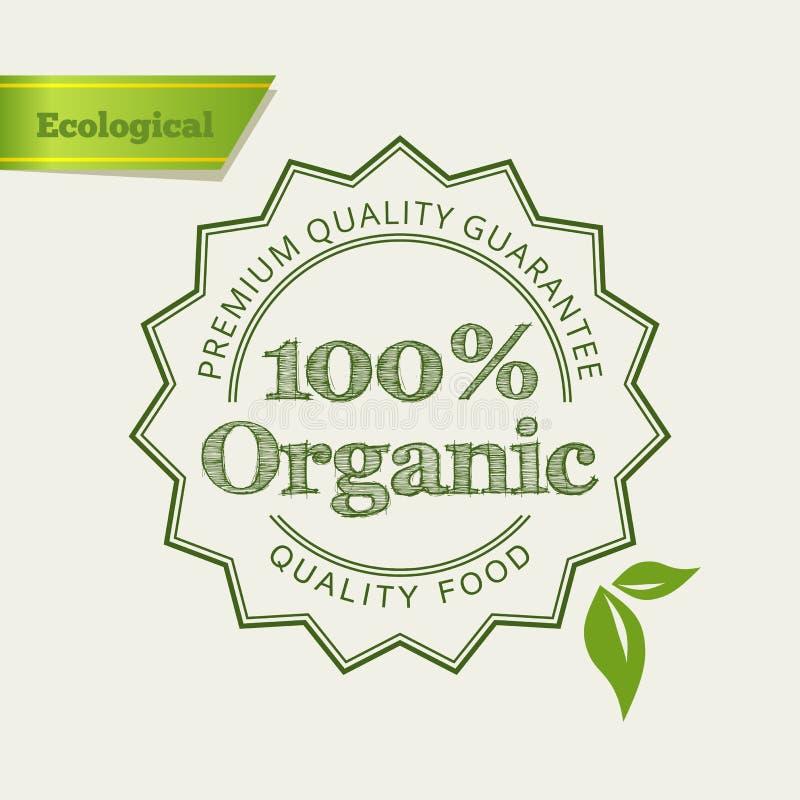 Graphisme vert d'Eco illustration stock