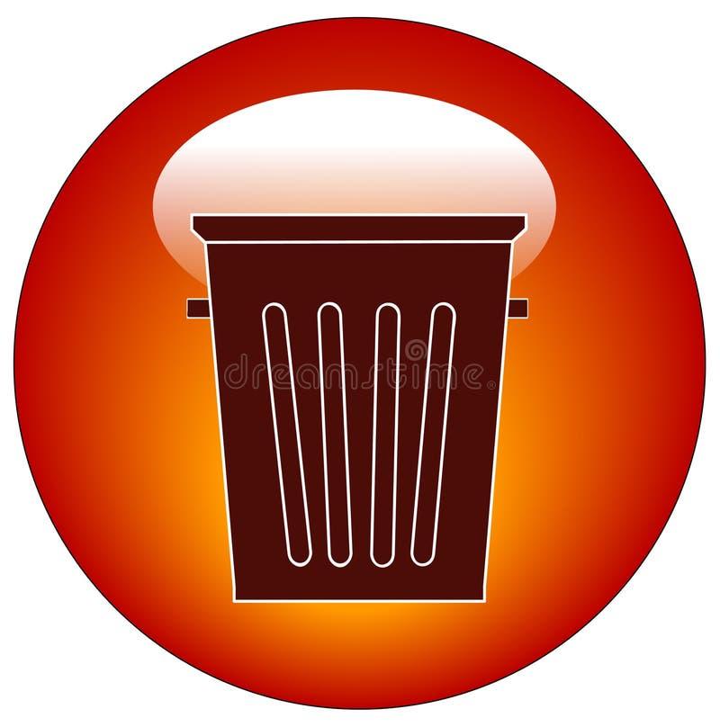 Graphisme vide de poubelle illustration de vecteur