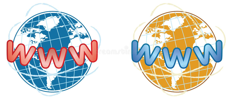 graphisme WWW illustration de vecteur