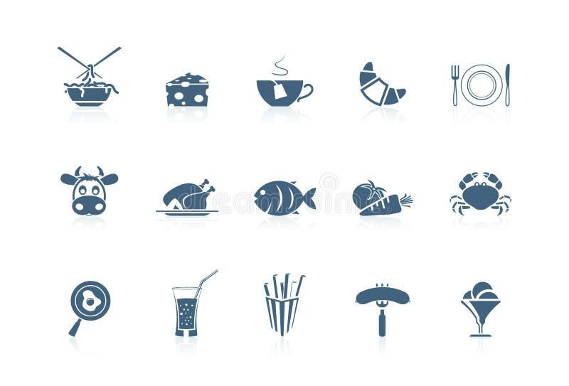Graphismes 2 de nourriture | série de petite flûte illustration de vecteur