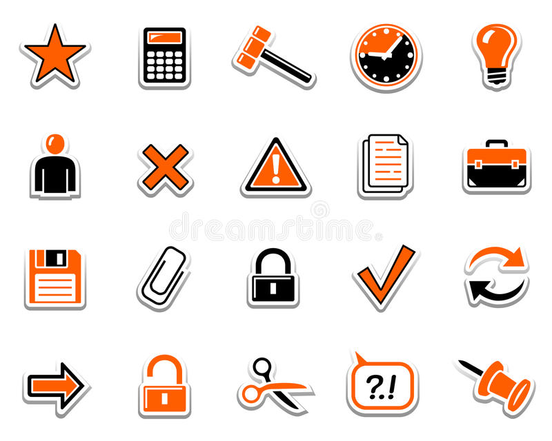 Graphismes 2 de Web illustration de vecteur