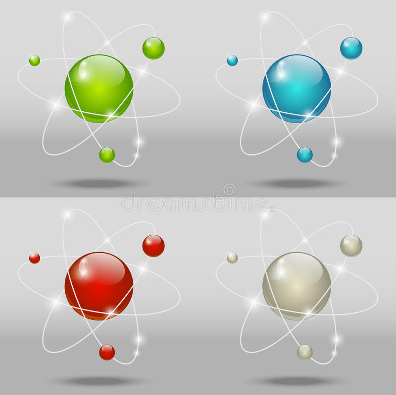 Graphismes atomiques illustration de vecteur
