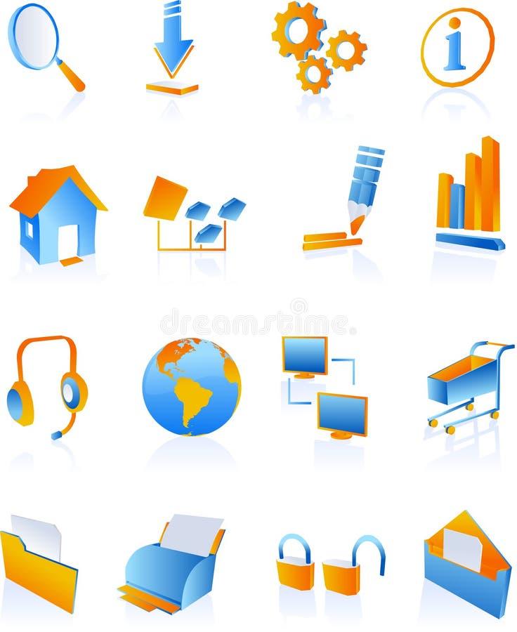 Graphismes bleus d'Internet de Web illustration libre de droits
