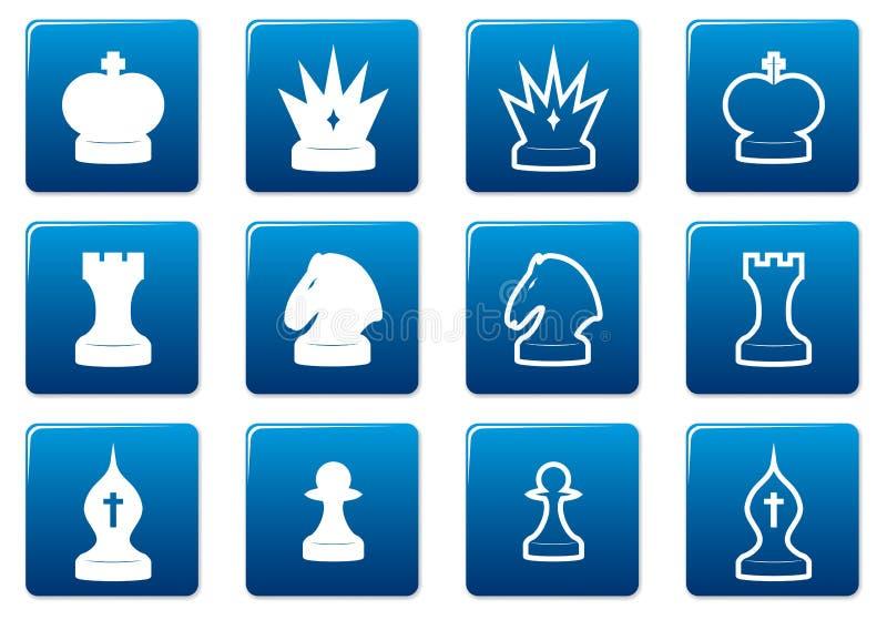 Graphismes carrés d'échecs réglés. illustration libre de droits
