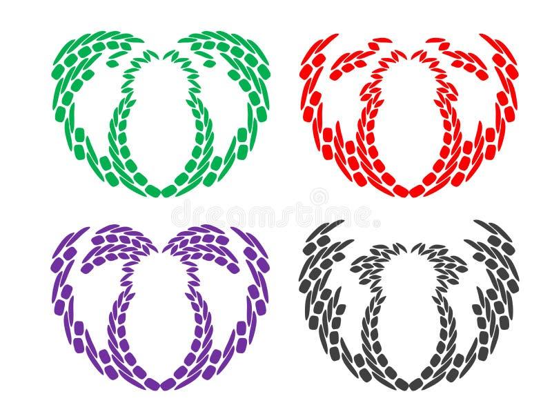 Graphismes colorés abstraits image stock