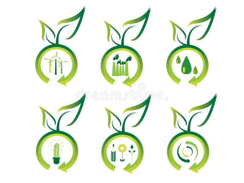 Graphismes d'écologie illustration stock