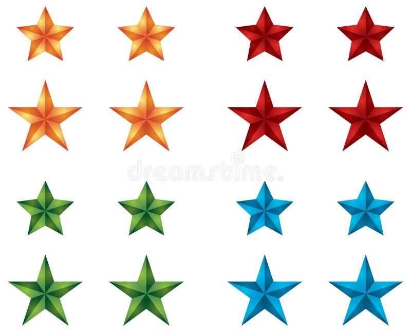 Graphismes d'étoile pour la conception de Web illustration stock