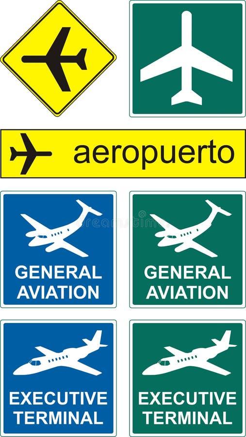 Graphismes d'aéroport illustration libre de droits