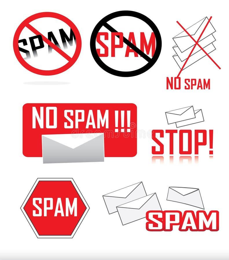 graphismes d'Anti-Spam illustration stock