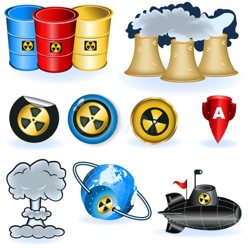Graphismes d'arme nucléaire illustration libre de droits