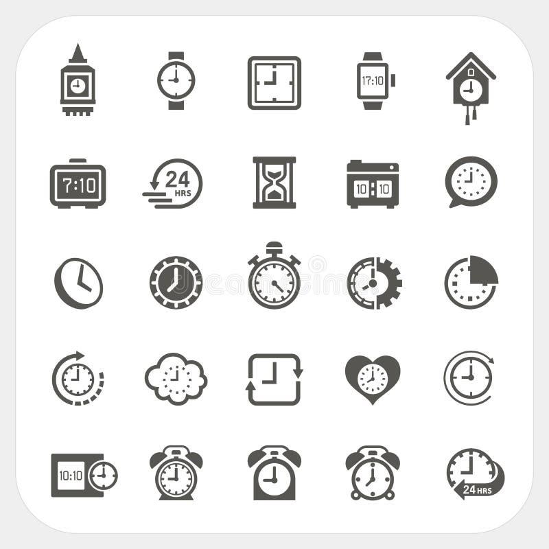 Graphismes d'horloge réglés illustration stock